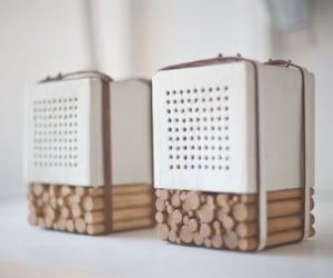 Joon&Jung's Natural Speaker Made out of Porcelain and Wood