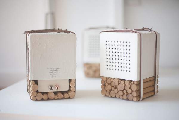 natural speaker wood porcelain joon jung eindhoven