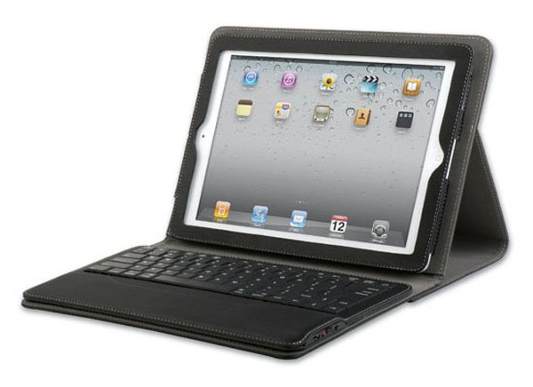 qmadix portfolio ipad keyboard battery rechargeable case