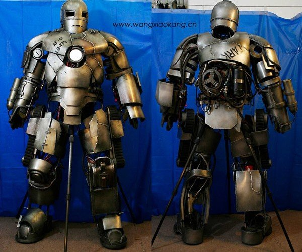 Chinese Dude Builds Awesome Iron Man Mark I Suit