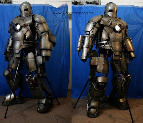 Chinese dude builds awesome iron man mark i suit technabob for Plan d iron man