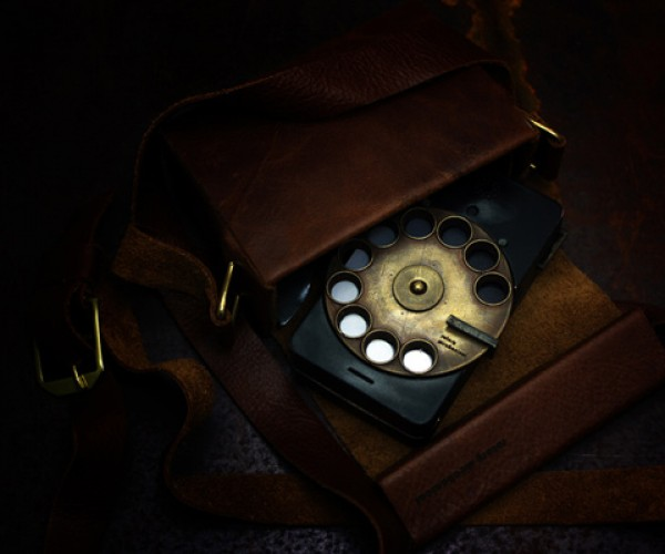 Rotary Cell Phone: Steampunk at its Best