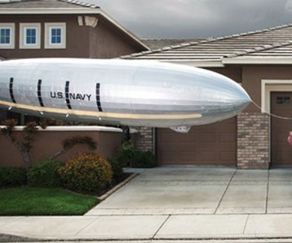 20-Foot Floating Airship Replica: Is That a Blimp in Your Driveway?