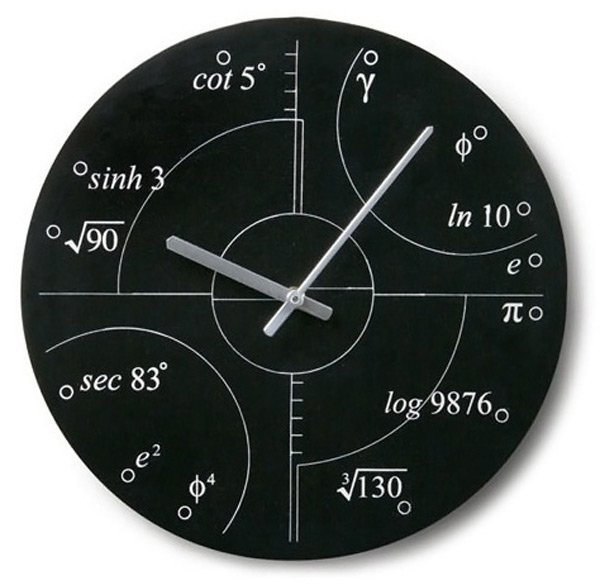 irrational numbers clock math wall fun novelty