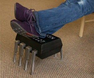 555 Timer Chip Footstool: IC Your Feet on It