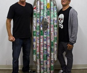 Dude, Want To Surf On a Board of Beer Cans?