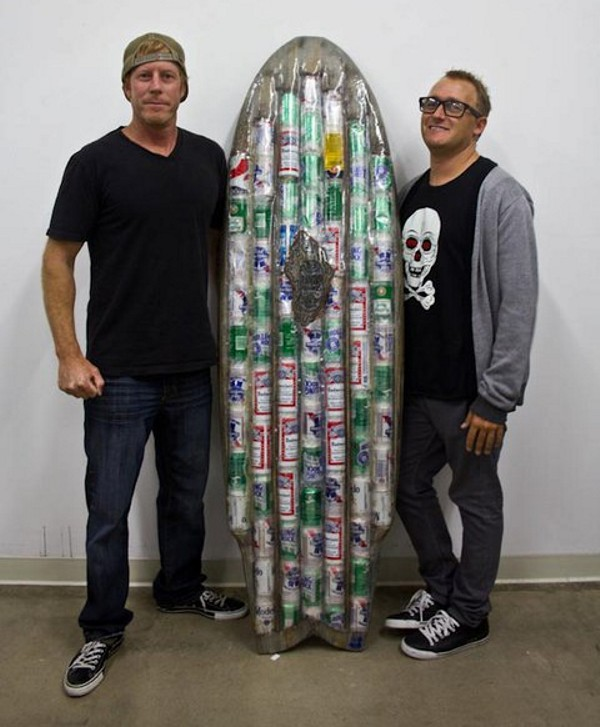 Beer Can Surf Board