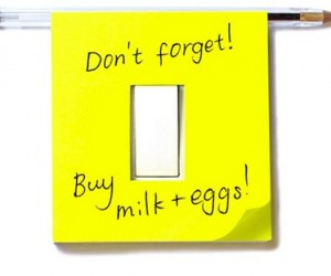 Light Switch Sticky Notes Remind You to Turn Off the Lights