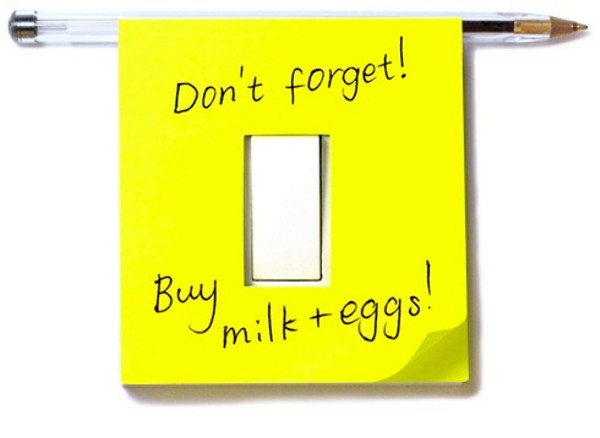 Light Switch Sticky Notes