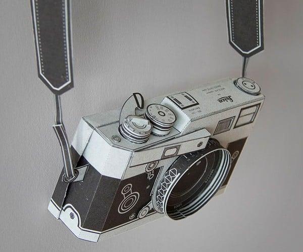 Awesome Papercraft Leica Can Really Take Photos