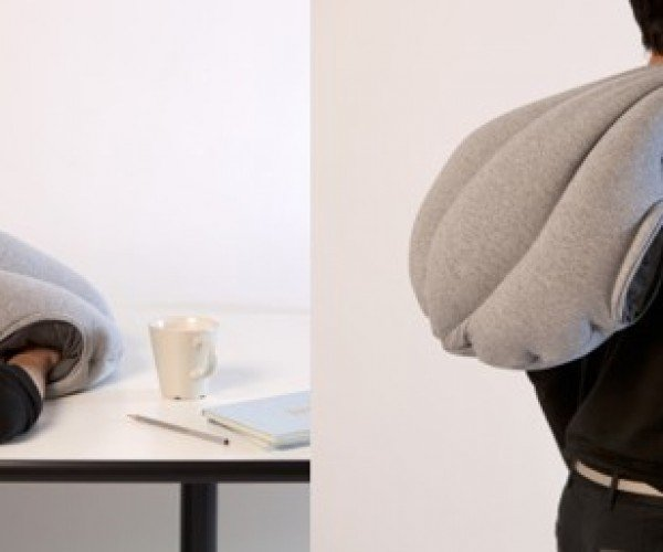 The Pocket Pillow Lets You Sleep Anytime, Anywhere Like an Ostrich
