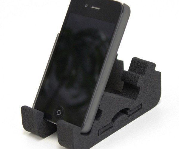 Zigstand: Convertible Smartphone Stand Made Out of Foam
