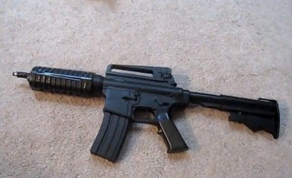 airsoft laser rifle gun mod by styropyro