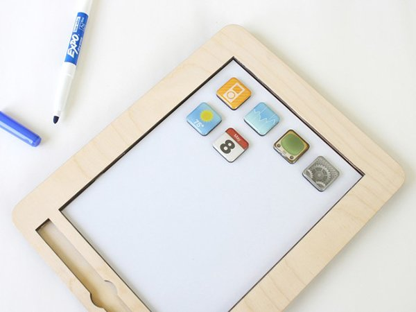 anapad wooden magnetic white board by twigcreative