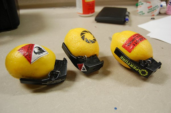 combustible lemon grenade props by chris myles