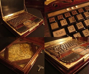 Datamancer's Steampunk Laptops Can Now Be Yours