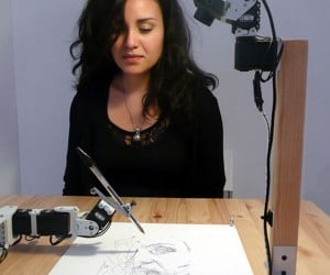 Paul the Robot Hand-Draws Portraits (Sloppily)