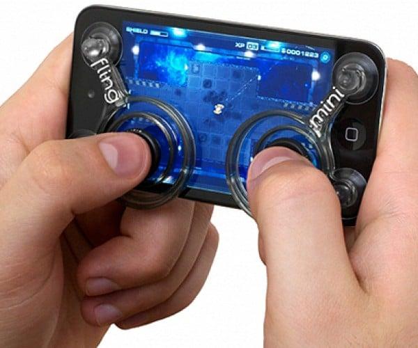 Fling Mini iPhone & iPod Joysticks: Stick-on Joy for Analog Fans