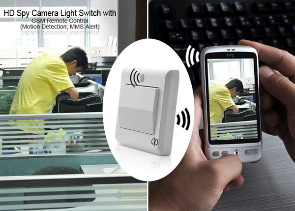 gsm spy light switch