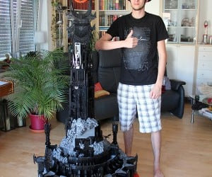 lego barad dur dark tower of sauron by kevin walter 2