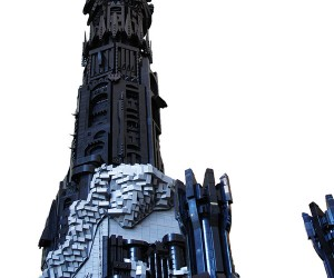 lego barad dur dark tower of sauron by kevin walter 3