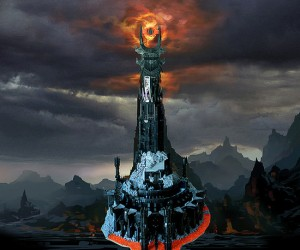 lego barad dur dark tower of sauron by kevin walter 300x250
