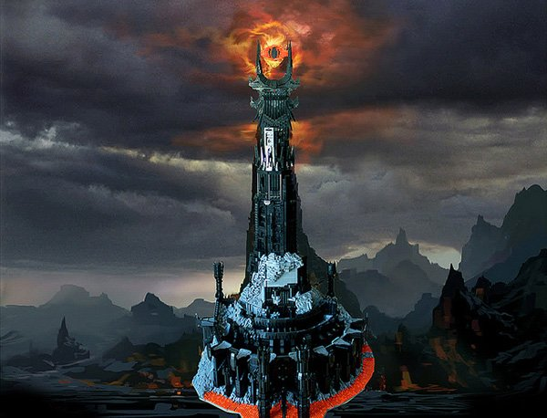 lego barad dur dark tower of sauron by kevin walter
