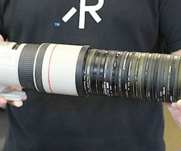 LensRentals Crams 50 UV Filters onto One REALLY Long Lens (What Would Freud Say?)