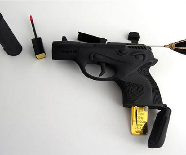 Pistol Makeup Bag for Rich, Gun-Loving Ladies