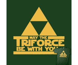 May the Triforce Be with You T-shirt Links Zelda to Star Wars