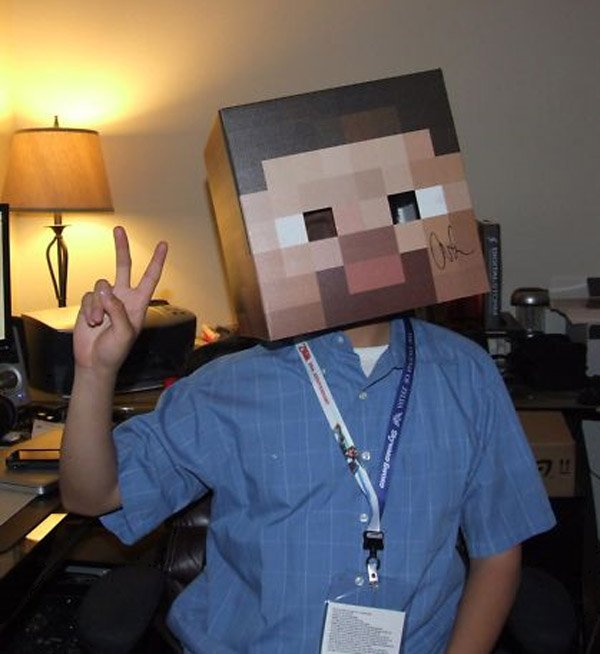Autographed Minecraft Head: Can't Mine This