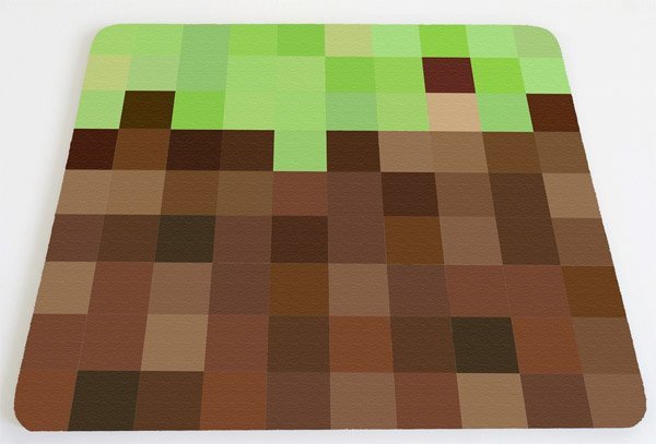 minecraft grass mousepad