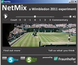NetMix Player Takes the Grunts Out of Wimbledon