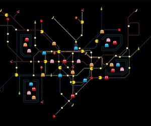 Pac-Man Tube Map: aka the London Ghost Tour