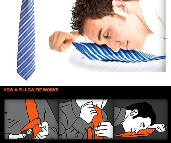 Inflatable Neck Tie Pillow for Sleeping on the Job