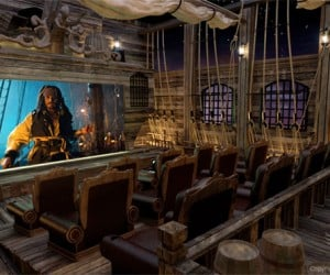 Awesome Pirate Theme Home Theater Has Pirate Tavern and More