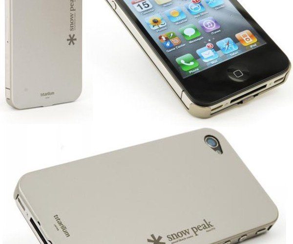Keep Things Light With The Snow Peak Titanium iPhone 4 Case