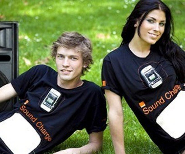Orange T-Shirt Charges Smartphones with Sound