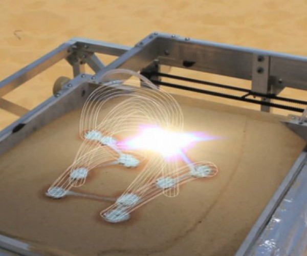 3D Printer Powered by the Sun Uses Desert Sand for Printing