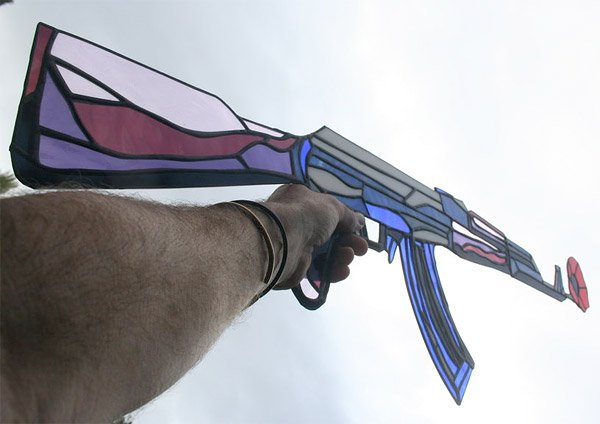 stained glass ak 47