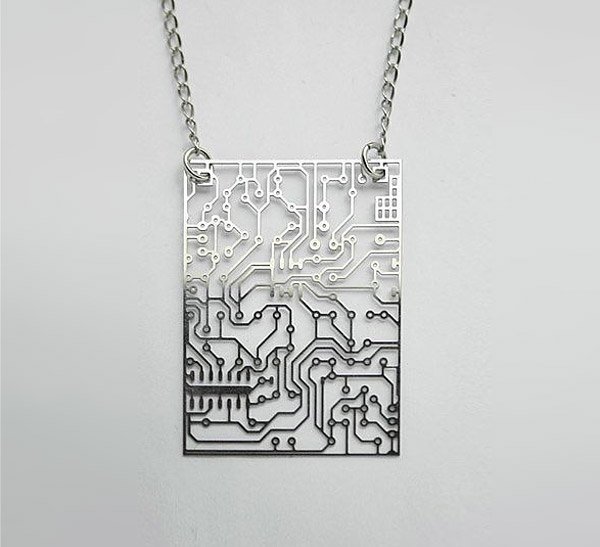 stainless circuit board necklace 1