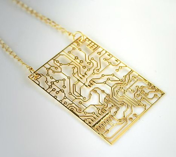 stainless circuit board necklace 2