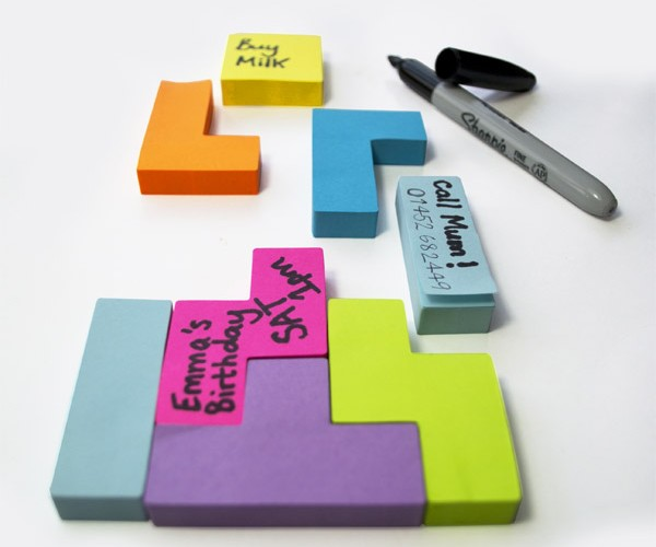 Tetris Sticky Notes: Post-it Puzzlers