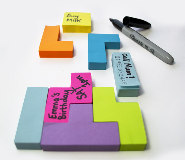 Tetris sticky notes post it puzzlers