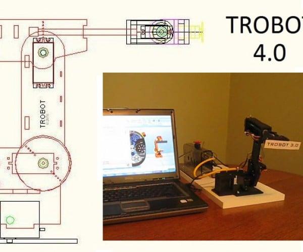 TROBOT 4.0: Put a Miniature Industrial Robot on Your Desktop