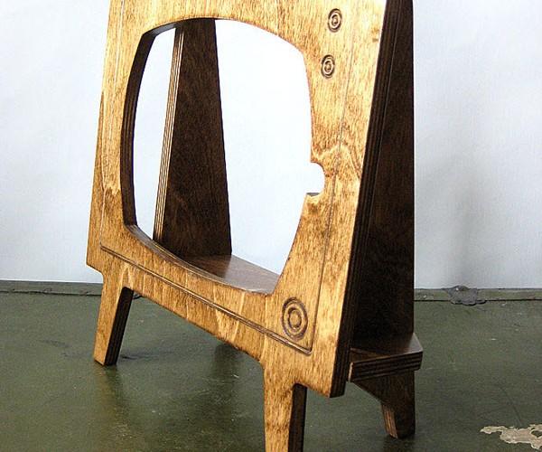 wood retro tv ipad dock by miterbox 3