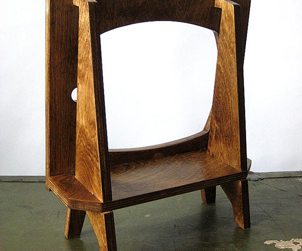 wood retro tv ipad dock by miterbox 5
