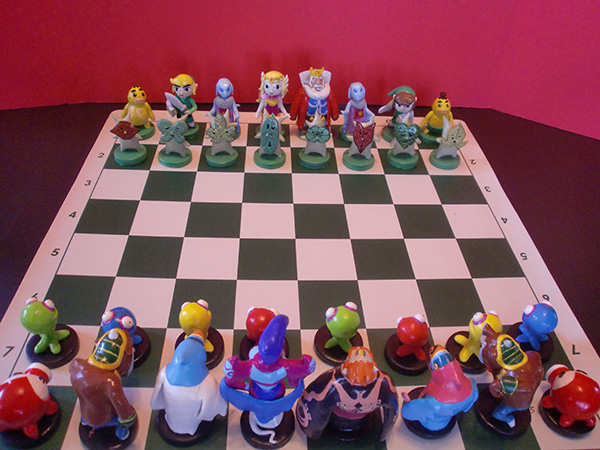 zelda chess set by ben howard