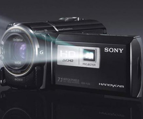 Sony HDR-PJ50V Camcorder: Projector on Board
