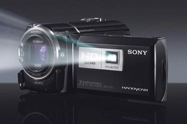 sony handycam hd camcorder video cam hdr-pj50 projector